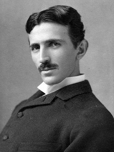 Foto de Nikola Tesla. Foto de 1890